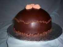 1 Kg Dome Shaped Chocolate Cake