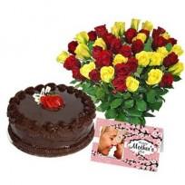 Roses Cake & Card