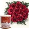 10 Red roses Bunch with 1 Kg Rasgulla