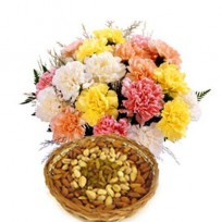 Carnations with Dry Fruits
