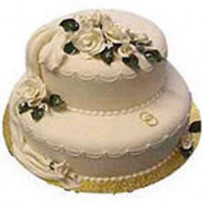 2 Tier Vanilla Wedding Cake 3 Kg (On Two Days Prior Order)
