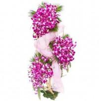 60 Purple Orchids Arrangement