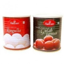 1 Kg White Rasgulla and 1 Kg Gulab Jamun From Haldiram