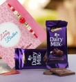 Rakhi Gift Online with dairy milk