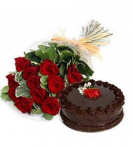 Red roses, Chocolate cake, Lucknow, Mahoba