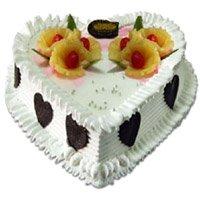 1 Kg Heart Shape Pineapple Cakes
