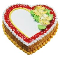 3 Kg Heart Shape Butter Scotch Cake