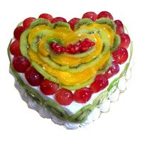 3 Kg Heart Shape Fruit Cake