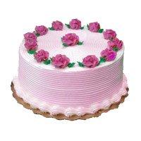 500 gm Strawberry Cake