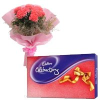 6 Pink Carnation, Cadbury Celebration Pack