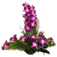 6 Purple Orchids Flower Arrangement
