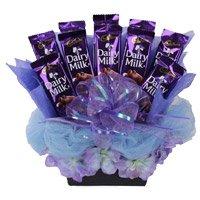 Dairy Milk Chocolate Basket 10 Chocolates