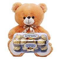 Ferrero Rocher Chocolates 16 Pieces with 6 inch Teddy