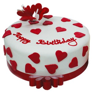 1 Kg Red & white Cream Cake