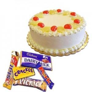 Pineapple Cake with Chocolates