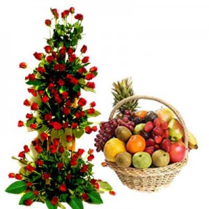 Grand Roses with Fruits