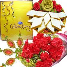 Carnations Kaju Katli Celebration and Rakhi