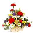 Mixed Flower Basket 12 Flowers