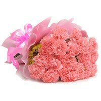 Pink Carnation Bouquet 36 Flowers