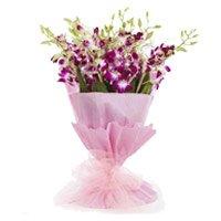 Purple Orchid Bunch 20 Flowers Stem
