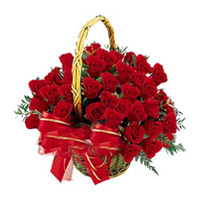 Red Roses Basket 24 Flowers