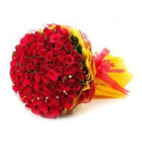 Red Roses Bouquet 150 Flowers