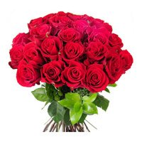 Red Roses Bouquet 24 Flowers