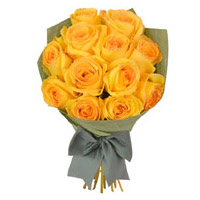 Yellow Roses Bouquet 15 Flowers