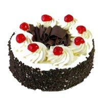 black forest cake, fresh cream cake