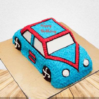 1.5 Kg Car Cake Kids (vanilla flavour)