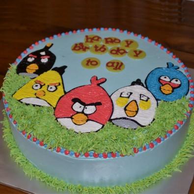 1 Kg Angry Bird Vanilla Cake