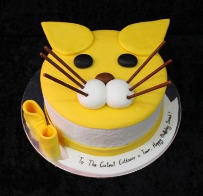 2 Kg Cat Shape Cake
