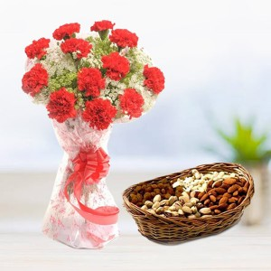 10 Carnation with Dryfruits