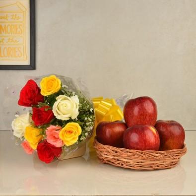 10 Mix Flowers N Apples