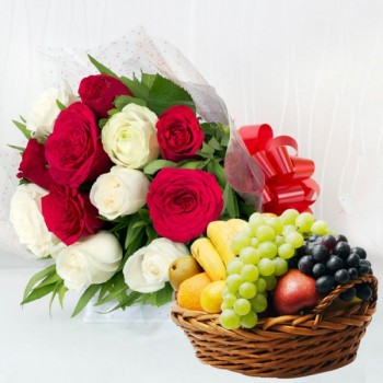 12 Roses and Fruits