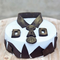 2kg Chocolate Classic Fondant Dad Cake