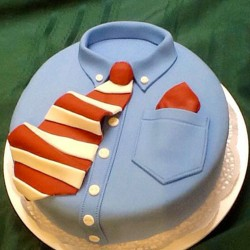 2 Kg Fathers Day Red Tie Fondant Cake