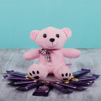 1 Teddy and  10 Chocolate Hamper