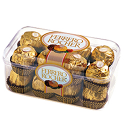 sweet Ferrero Rocher chocolate box