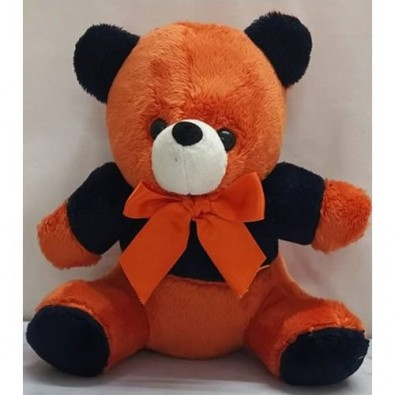 12 inch Orange Black Teddy