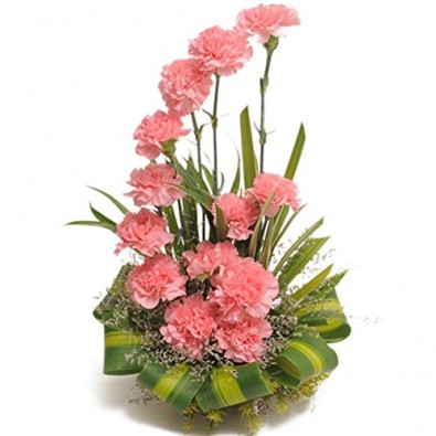 15 Pink Carnation Arrangement