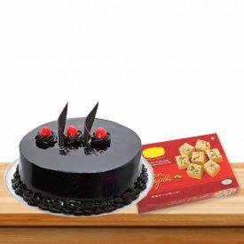 500gms Truffle Cake With 500 gms Soan papdi
