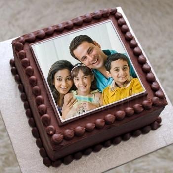 1 kg Photo Square Chocolate Cake