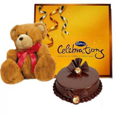 Cake Teddy with Celebration