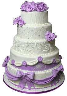 4 Tier Blue Berry Flavour Cake of 4 Kg   (On Two Days Prior Order)