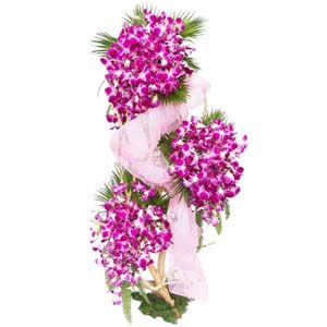 60 Purple Orchids Arrangement