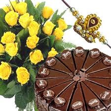 Rakhi Roses with Cake