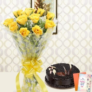 Charm of Friendship of half kg cake with flower