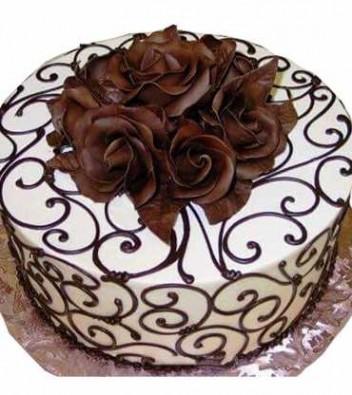 500 gms Choco Vanilla Cake