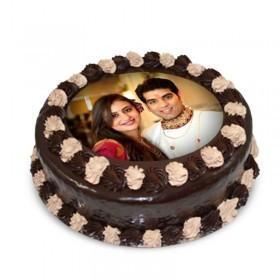 1 kg chocolaty Couple photo cake
